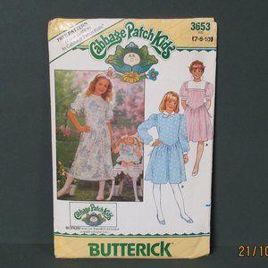 1986 CABBAGE PATCH Kids GIRL & DOLL DRESS Pattern